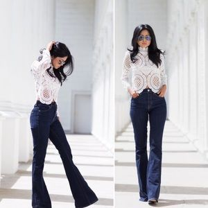 Dark wash flare jeans